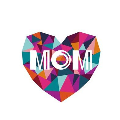 mom heart embroidery template