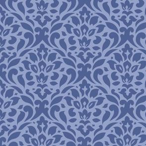 periwinkle blue damask