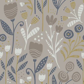 Luna floral (beige)