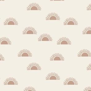 Little minimalist sunset boho sunny day vintage seventies style cream moody coral blush