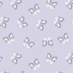 The minimalist boho butterfly nursery scandi textiles lilac purple white