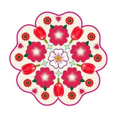 red embroidery template