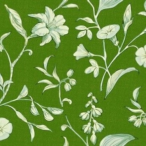 Botanical IntrigueIn Kelly Green