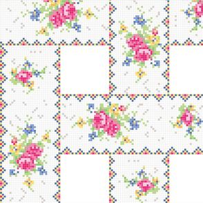 Petit point teacup pattern - weave