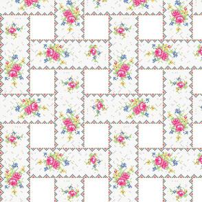 Petit point teacup pattern - weave - sm