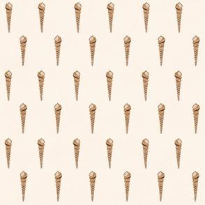"""Vanilla Cone Shells (almond) 18"""""""
