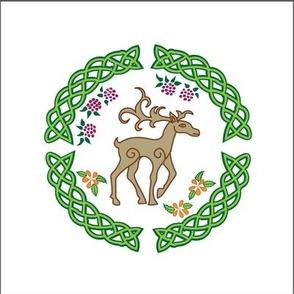 celtic deer embroidery
