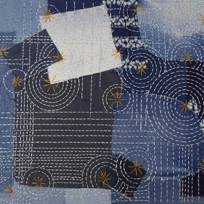 Denim Scrap Boro Sashiko 1 The Blues