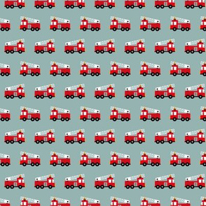 Fire to the rescue fire engine truck fire fighters for boys gray redSMALL