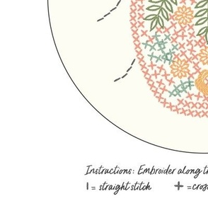 Embroidery Template Kit Flower Bug