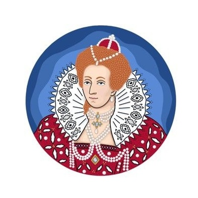 Queen Elizabeth I Embroidery Template