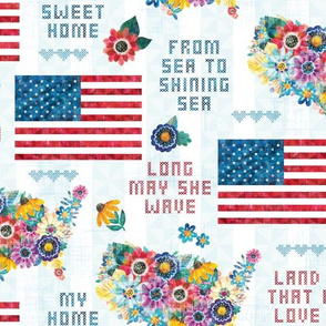 Americana Cottage - Flag and Country