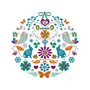 Embroidery Template Meadow