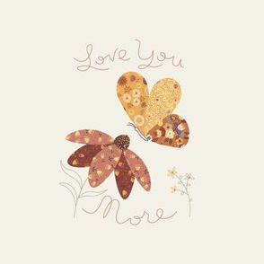 Love you more embroidery template