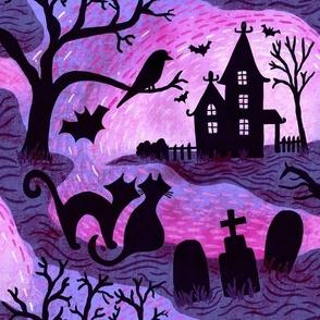 Spooky Halloween Haunts- Fandango Pastel Pink