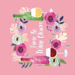 Tea Towel- Time to Wine Down