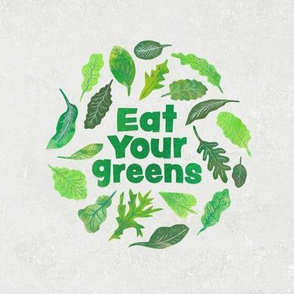 Eat Your Greens Embroidery Your Salad