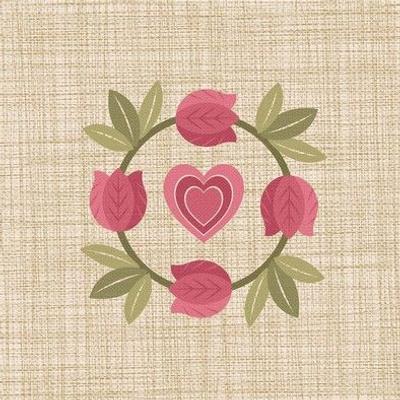 Tulip Wreath Embroidery ©Julee Wood