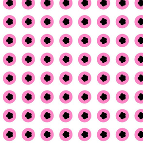 pink and black & white liquorice candy