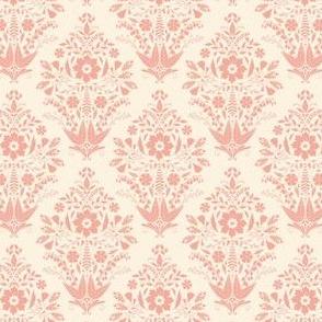Monochrome Damask Pink by DEINKI (Small Scale)