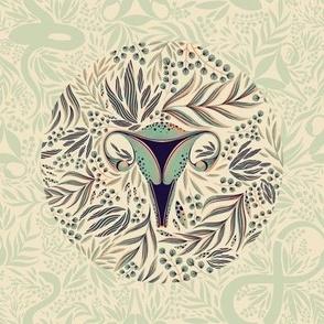 embroidery template uterus
