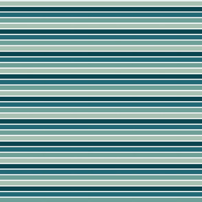 Thick Teal Stripes