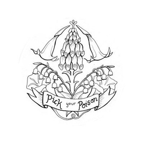 Pick Your Poison - Linework Embroidery Template