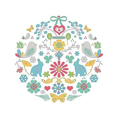 Embroidery Template Woodland Meadow
