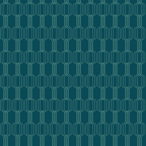 Lines intertwined - Acapulco on deep sea green