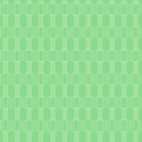 Lines intertwined - Rice flower on Granny Smith apple green