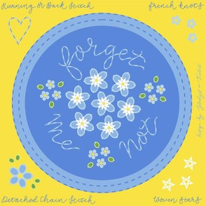 Forget Me Not Embroidery