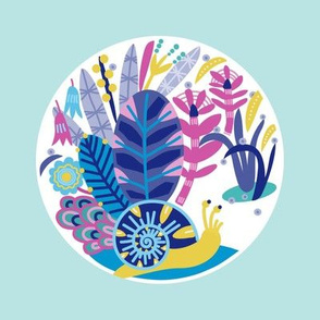 Garden Snail - embroidery template