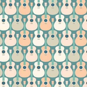 guitars by Pippa Shaw S teal