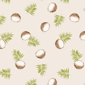 coconut tropical palm print