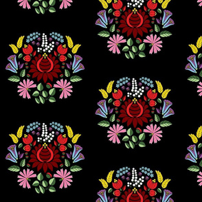Traditional Hungarian embroidery pattern