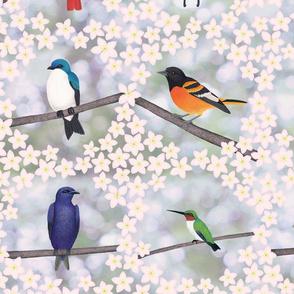 backyard bird embroidery 8X8 pattern
