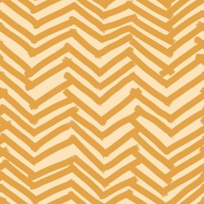 Messy herringbone line art in fall yellows