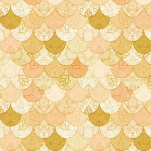Boho Doodle Soft Golden Mermaid Scales