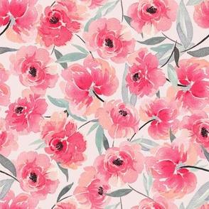 Soft watercolor Roses