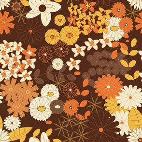 Retro colours repeat pattern