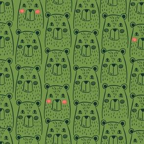 Bears in green