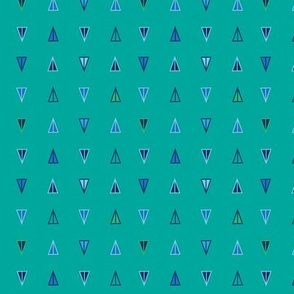 Art Deco Trianglese - Cool Color Palette