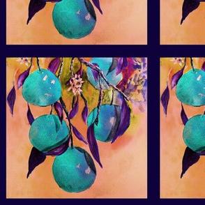 "6"" x 6"" TILE UNDER THE BLUE ORANGES TREE PSMGE"