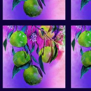 """6"""" x 6"""" TILE UNDER THE ORANGE TREE GREEN SUNRISE SUNSET PSMGE"""