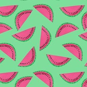 Watermelon Slice in Green