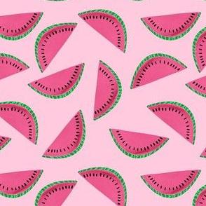 Watermelon Slice on Pink