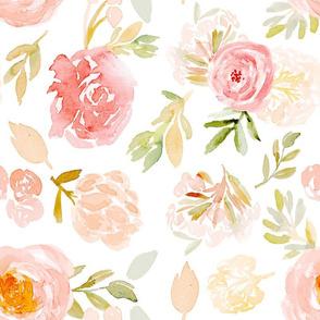 cora watercolor florals