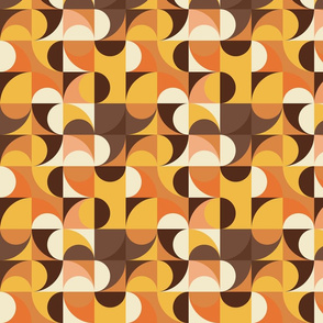Retro colours abstract art