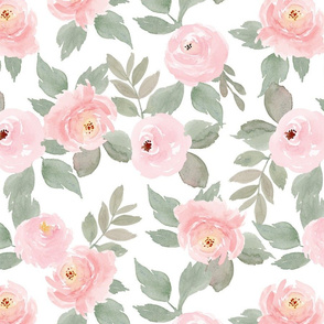 adelle floral watercolor flowers Large