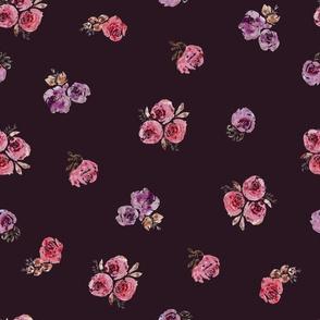 ALLover rosesBURGUNDY